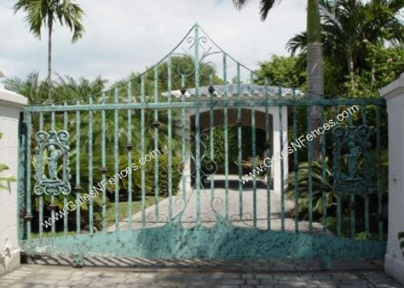Decorative Ornamental Sliding Driveway Gates