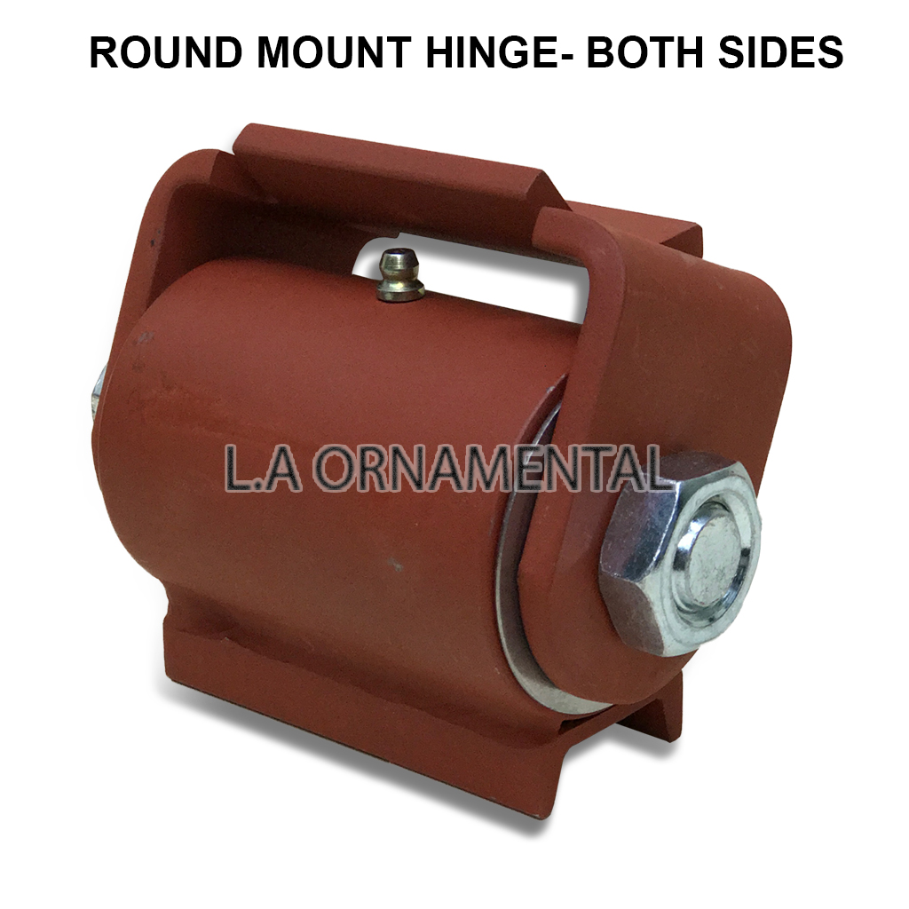 Heavy Duty Weld-On Steel driveway Gate Hinge for Round Frames