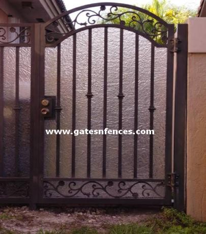 Garden Gates Walk Thru Gates Wrought Iron Or Aluminum