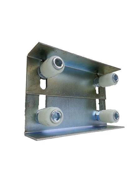 Slide Gate Double Ajustable Rubber Guide Roller Plastic