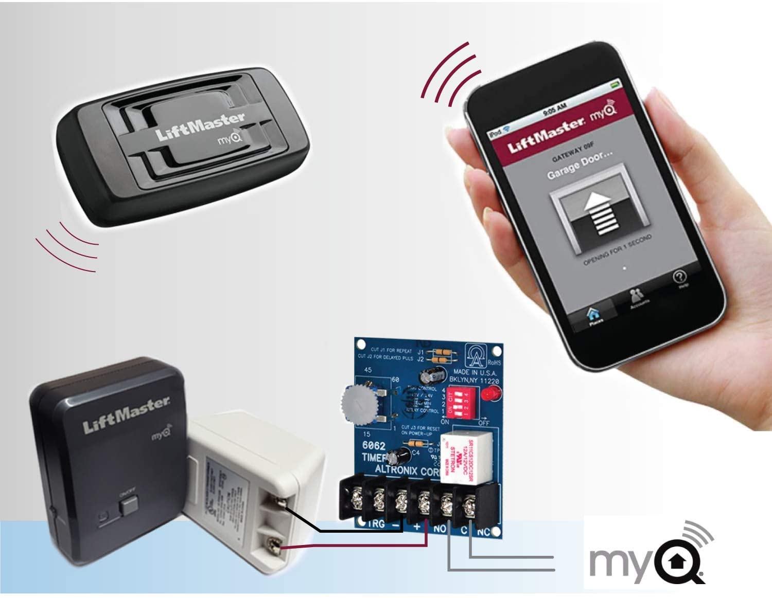 Kit For Door Opener Open And Close Your Garage By Satellite Wifi From Anywhere By Phone App Myq Smart Easy Installation