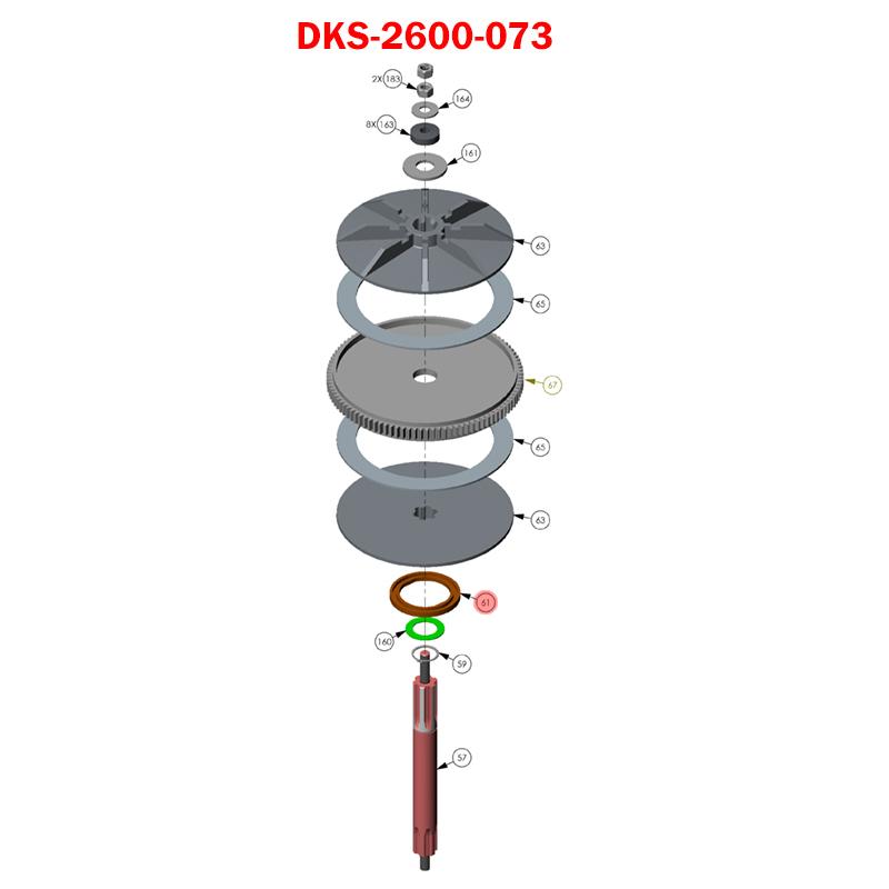 Dks Gate Opener >> Doorking 6300, 2600-073 , Magnet Counter Ring