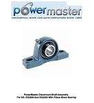 PowerMaster Disconnect Shaft Assembly For SG, SG2000 And SG2004 With Pillow Block Bearing
