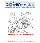 PowerMaster Hall Effect Sensor For SG2004 CSWI 1 1/2HP 3 phase 460 Volt ( For All Operators )