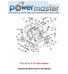 Powermaster Brake Assy For SG Operator