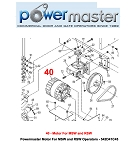 Powermaster Motor For MSW and RSW Operators - 542D41C45