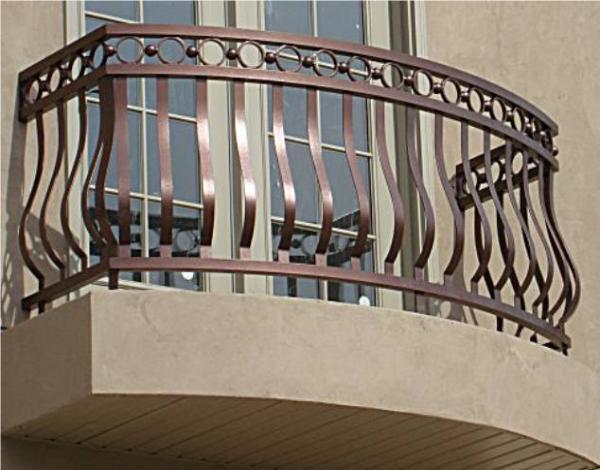 Home U003e Railings U003e Modern Balcony Railings U003e Aluminum Belly Special Railing