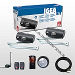 BFT Igea BT Double Swing Gate Operator Kit 24V Handles Gates 550lbs 10 feet long Kit