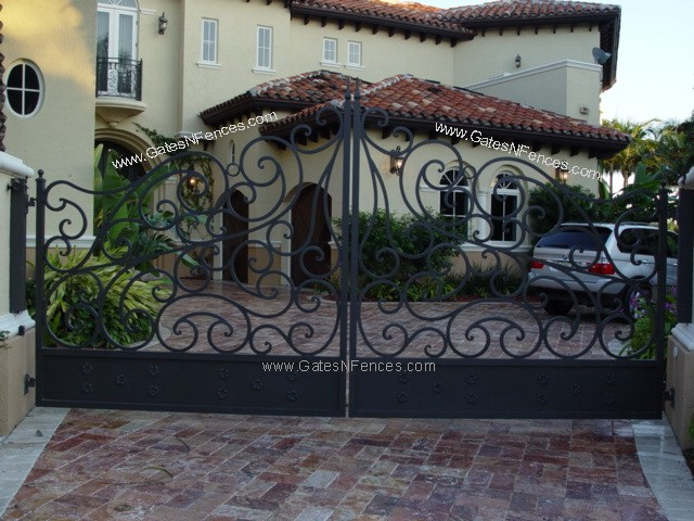 Entry Gate Design Driveway Gate European Fan