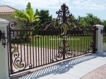 Driveway Gate Golden Orchid