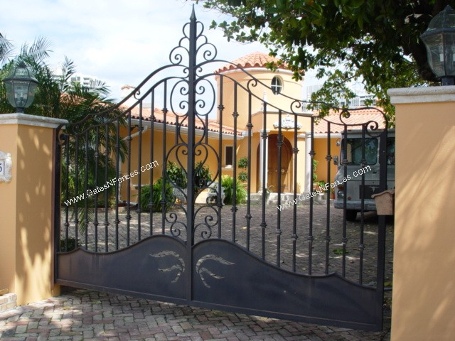 Custom Iron Gates Design Driveway Iron Gate
