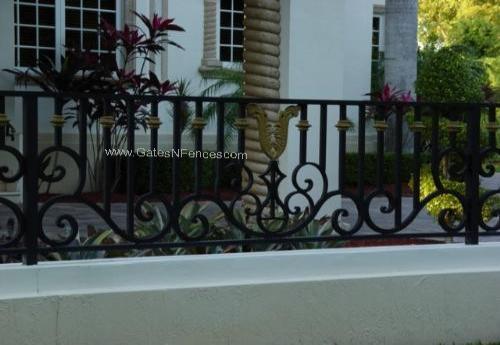Aluminum Driveway Gates Custom Decorative Garden Railings