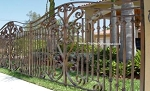 Sea Shells Garden Gate Picket Fence Aluminum Fence