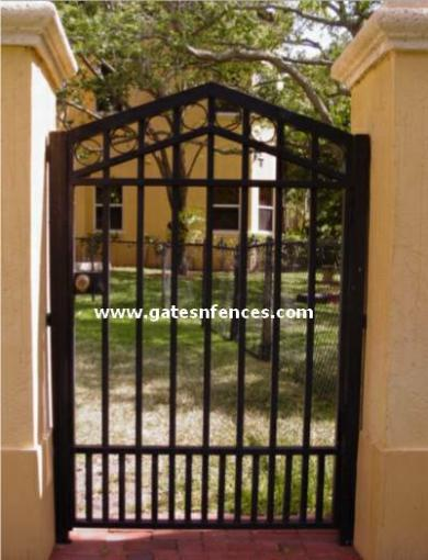 Bon Garden Gates Walk Thru Gates Wrought Iron Or Aluminum Garden Pedestrian  Gates