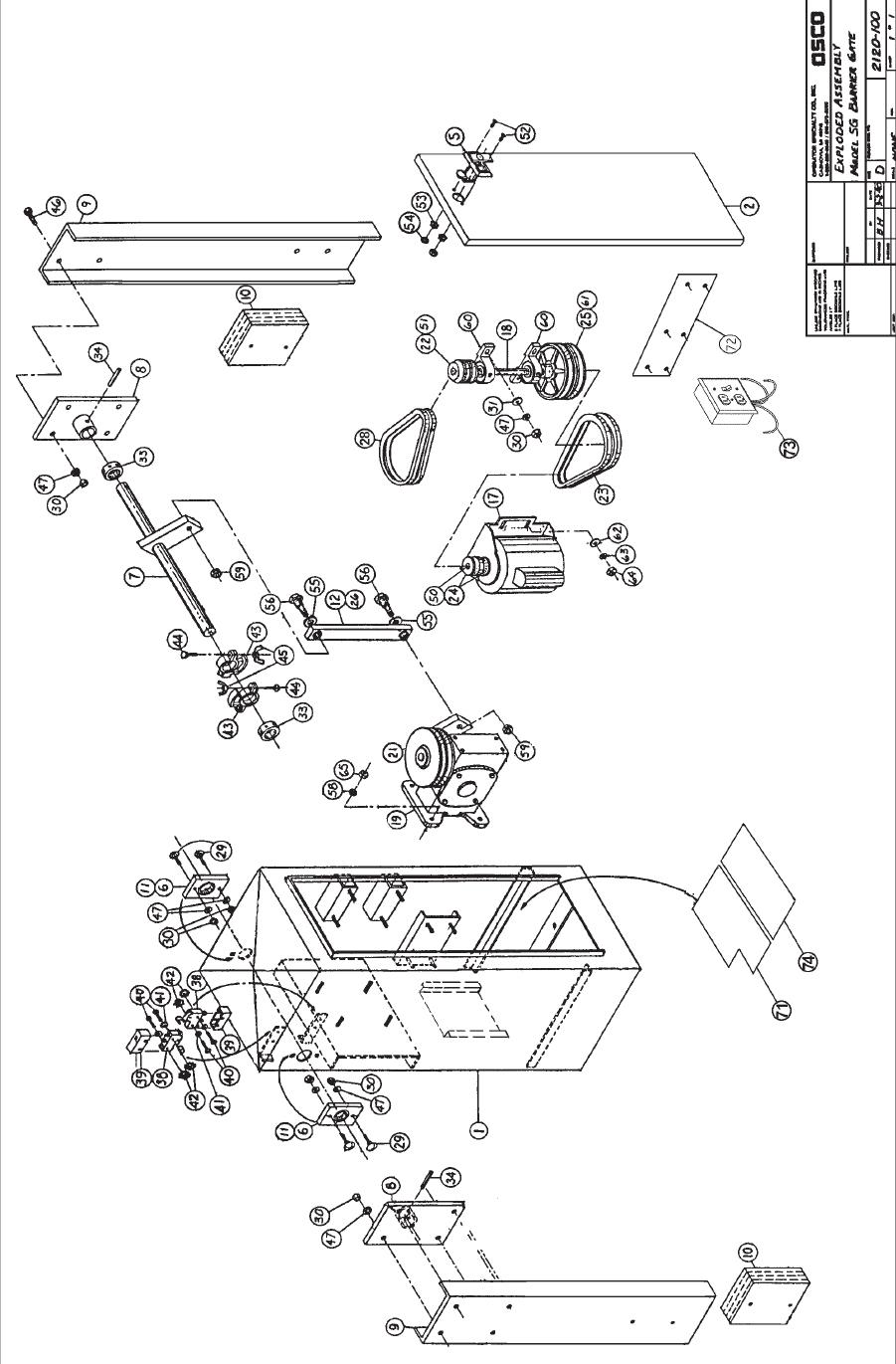 osco arm barrier control box parts sg