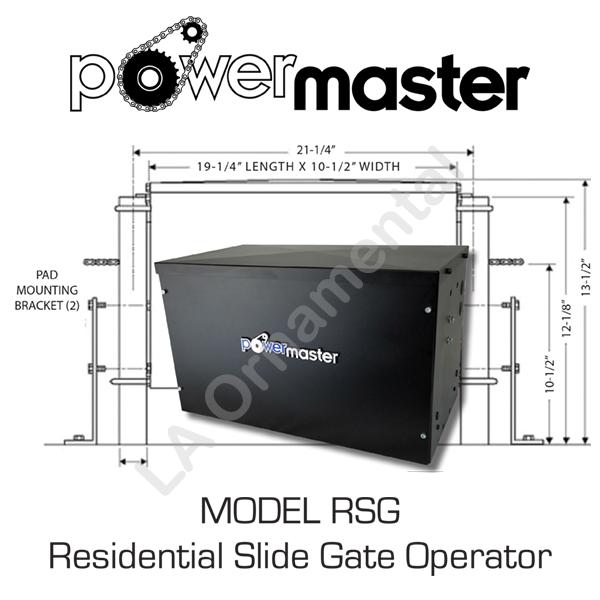 Power Master RSG Residential Sliding Gate Opener