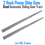 Rack Pinion Slide Gate Rack Pinion Steel Automatic Sliding Gear Track Set of 2