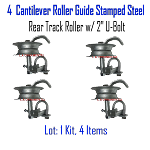 Stamped Steel Rear Track Roller Set of 4