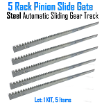 Rack Pinion Slide Gate Rack Pinion Steel Automatic Sliding Gear Track Set of 5