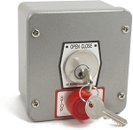 MMTC 1KXS Nema 4 Exterior Tamperproof Open-Close Key Switch With Stop Button Surface Mount