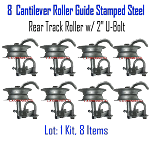Stamped Steel Rear Track Roller Set of 8