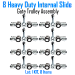Internal 4 Wheel Slide Gate Truck Assembly Set of 8