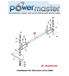 PowerMaster # 20 1036 Control rod For CSWC