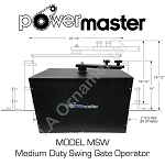 Power Master MSW, Heavy Residential Light Commercial Swing Gate Operator