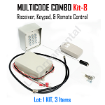 MULTICODE Kit-8: 109950 receiver Remote Compatible 2 Button TS-DOLKWP Keypad