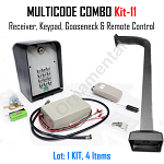 MULTICODE Kit-11: 109950 receiver Remote Compatible 2 Btn 951M Keypad Gooseneck