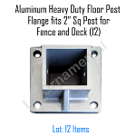 Aluminum Heavy Duty Floor Post Flange fits 2