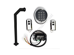 Wireless KIT for Gate Opener with keypad, receiver, remote controls, black goose-neck