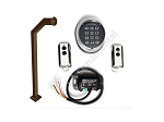 Wireless KIT for Gate Opener with keypad, receiver, remote controls, bronze goose-neck