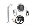 Wireless KIT for Gate Opener with keypad, receiver, remote controls, silver goose-neck