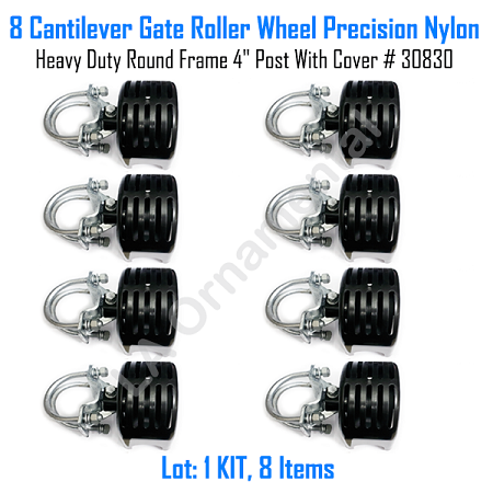 "Cantilever Rolling Gate Wheels Sliding Cantilever Gate Roller 4"" Post With Cover Set of 8"
