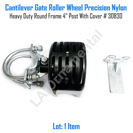 "Cantilever Rolling Gate Wheels Sliding Cantilever Gate Roller 4"" Post With Cover"