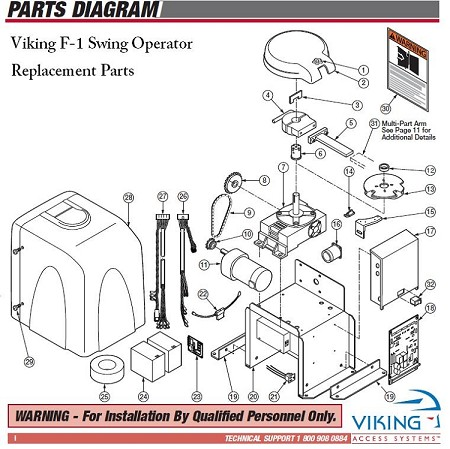 Viking Parts for F-1, DWOUK10 Output Shaft Knob