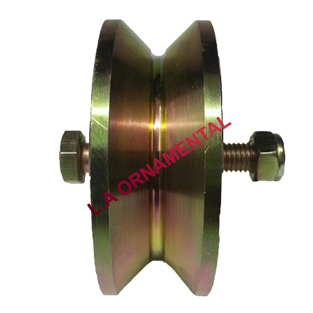 "4"" V Groove Wheel - DURA WHEEL - Heavy Duty Gate Wheels"