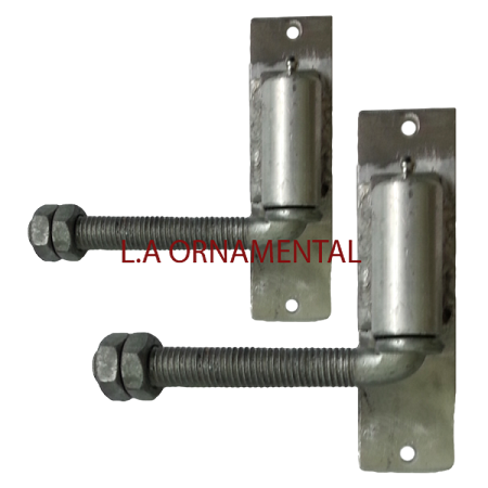 "3/4"" J-Bolt Aluminum Gate Adjustable Hinge (Pair)"