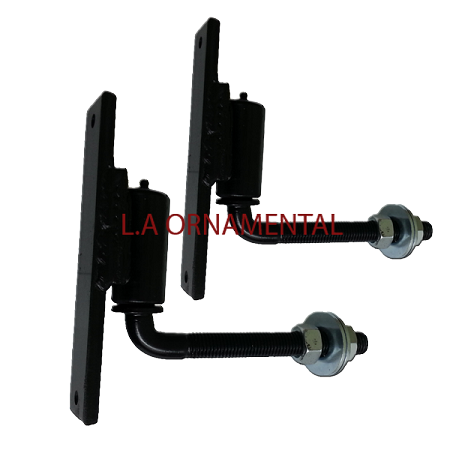 "3/4"" J-Bolt Gate Adjustable Hinge Steel (Pair)"