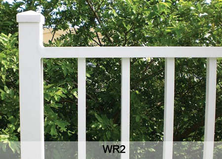 Classic Raised Fence Post and Rectangular Top Rails