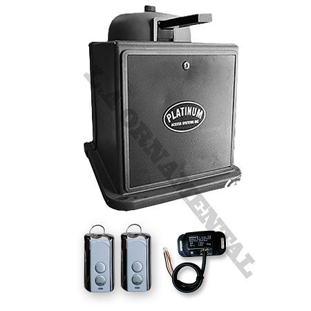 Platinum BLSW814 kit 1 Residential Swing Gate Operator With Battery Back Up