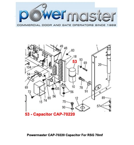 Powermaster CAP-70220 Capacitor For RSG 70mf