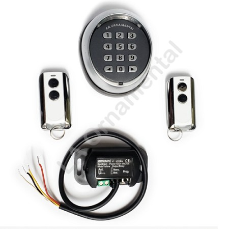 Wireless keypad, miniaturized receiver and 2 transmitters for Gate Opener, Kit
